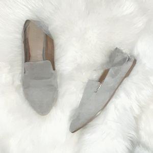 Halogen   'Sabrina' Gray Suade Loafers